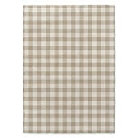 Kavka Designs Gingham Tan/ Ivory Area Rug - 8'x10'