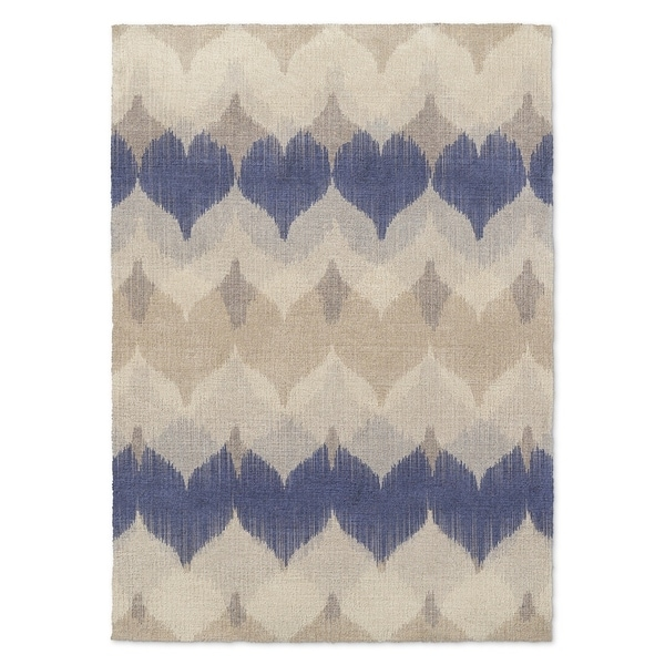 Kavka Designs Aria Blue/ Ivory/ Tan 8'X10' Area Rug - 8' x 10'