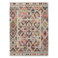 Kavka Designs Tangier Ivory/ Orange/ Pink/ Brown/ Grey Area Rug (8'X10') - 8' x 10'
