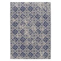 Kavka Designs Blue Tile Blue Area Rug - 8'x10'