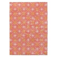Kavka Designs Trixie Distressed Pink/ Orange Area Rug - 8'x10'