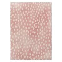 Kavka Designs Bunny Pink/ White Area Rug ( 3'X5' ) - 3' x 5'