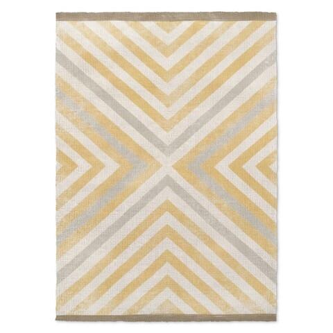 Kavka Designs Hedgehog Rug Pattern Brown/ Beige/ Grey/ White Area Rug ( 3'X5' ) - 3' x 5'
