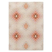 Kavka Designs Roseau Beige/ Tan/ Orange Area Rug ( 3'X5' ) - 3' x 5'
