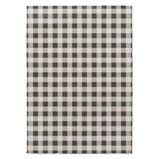 Kavka Designs Bw Gingham Black/ Grey/ Ivory Area Rug ( 3'X5' ) - 3' x 5'