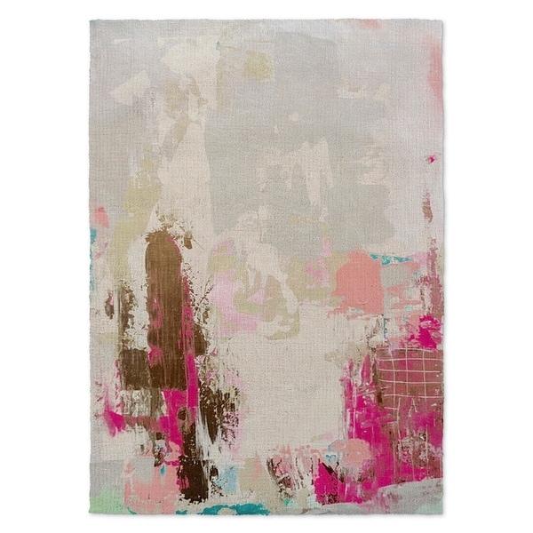 Kavka Designs Valley Talk Grey Brown Pink Area Rug 3 X27