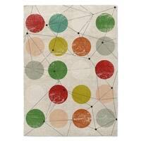 Kavka Designs Nova Red/ Green/ Orange/ Blue/ Brown Area Rug ( 3'X5' ) - 3' x 5'