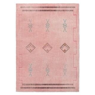 Kavka Designs Sidra Pink/ Blue/ Grey Area Rug ( 3'X5' ) - 3' x 5'