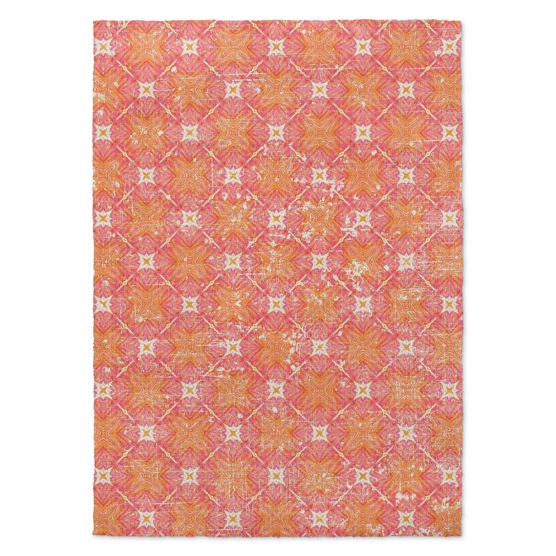 Kavka Designs Trixie Distressed Pink Orange Area Rug 3 X5 3 X 5 Overstock 16925524