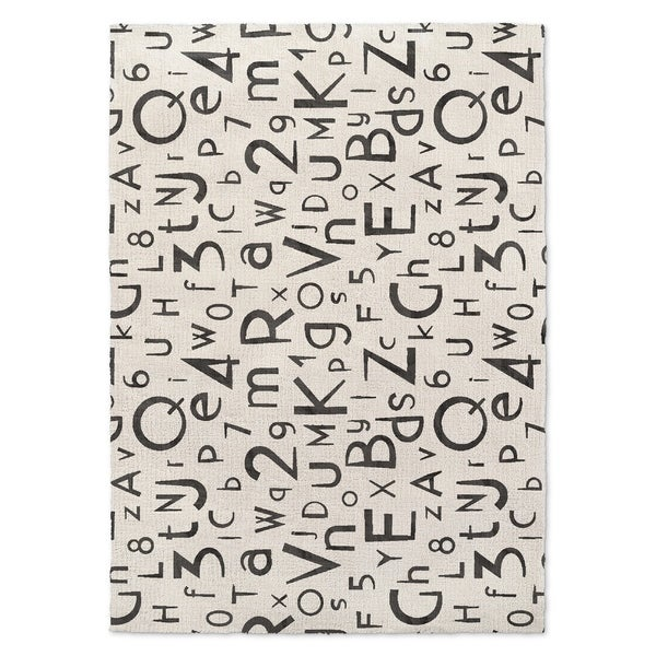 Shop Kavka Designs My Abc And 123 Black/ White Area Rug