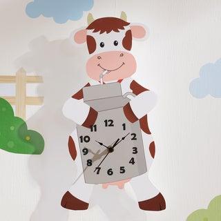 Fantasy Fields - Happy Farm Cow Wall Clock