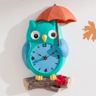 Fantasy Fields - Enchanted Woodland Owl Wall Clock
