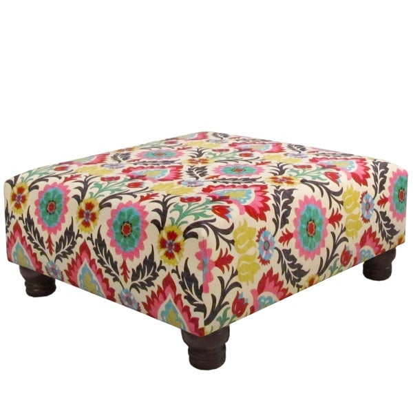 Skyline Furniture Ottoman In Santa Maria Desert Flower