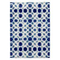 Kavka Designs Shibori Circle Blue Accent Rug (2' X 3') - 2' x 3'
