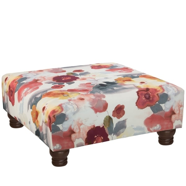 Delightful Skyline Furniture Ottoman In Paradiso Silver Shadow