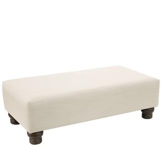 Skyline Furniture Ottoman in Linen (Silver/Off-White)