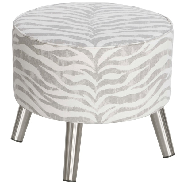 Skyline Furniture Ottoman With Splayed Legs In Tropo Cloud