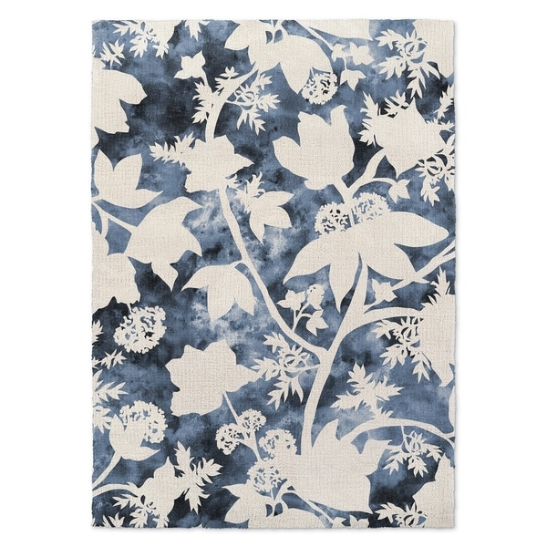 Kavka Designs Floral Blue Accent Rug - 2' x 3'