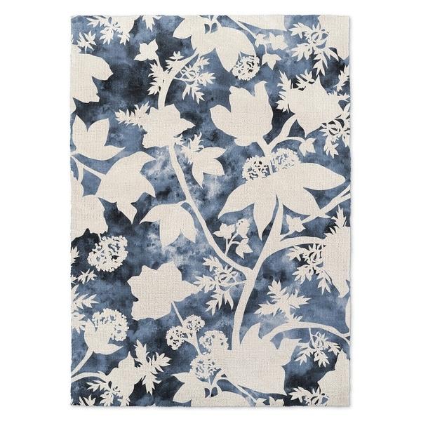 Kavka Designs Floral Blue Accent Rug (2' X 3') - 2' x 3'