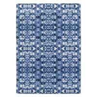 Kavka Designs Shibori Mirror Blue Accent Rug (2' X 3') - 2' x 3'