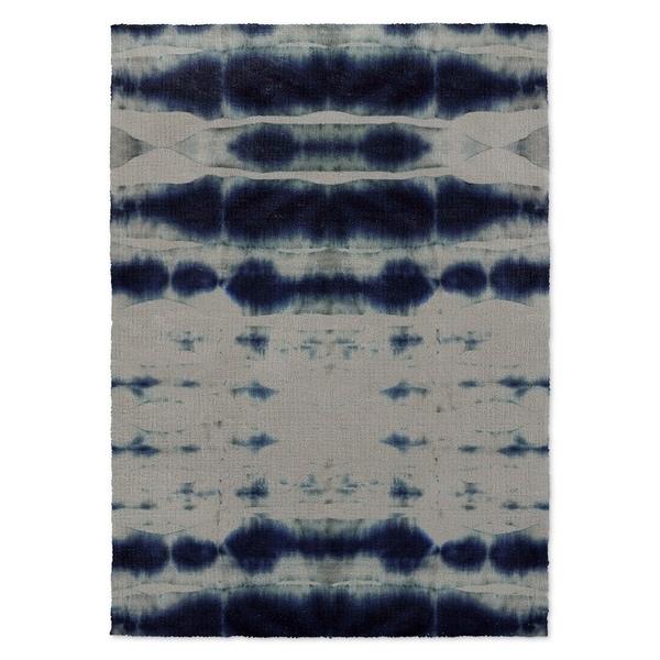 Kavka Designs Shibori Stripe Blue Accent Rug (2' X 3') - 2' x 3'