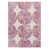 Kavka Designs Dots Moroccan Pink Accent Rug (2' X 3') - 2' x 3'