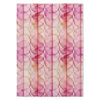 Kavka Designs Hot Circles Pink Accent Rug (2' X 3') - 2' x 3'