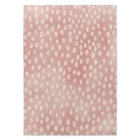 Kavka Designs Bunny Pink/ White Accent Rug - 2' x 3'