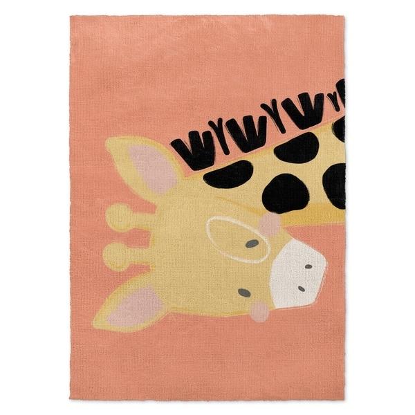 Shop Kavka Designs Giraffe Orange/ Black/ Pink Accent Rug