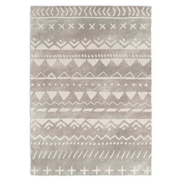 Kavka Designs Fox Grey/ White Accent Rug (2' x 3')