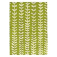 Kavka Designs Zebra Green/ White Accent Rug (2' X 3') - 2' x 3'