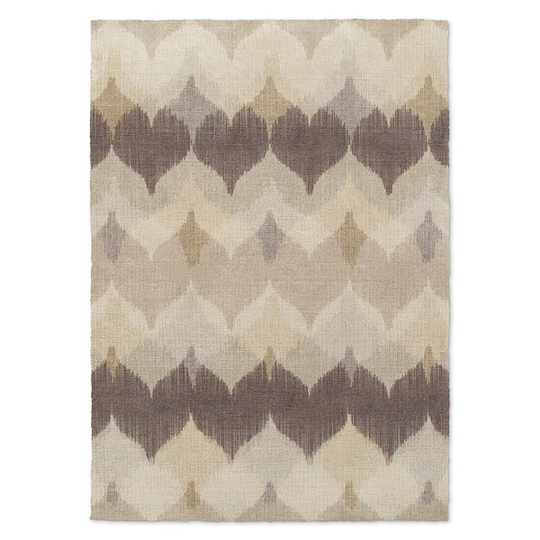 Kavka Designs Chevron Motion Ivory/ Brown/ Tan Accent Rug (2' X 3') - 2' x 3'