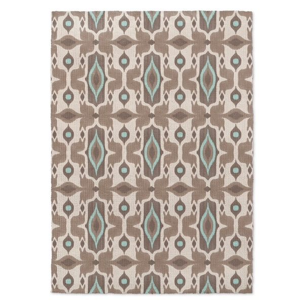 Kavka Designs Mojave Ivory/ Turquoise/ Brown Accent Rug - 2' x 3'