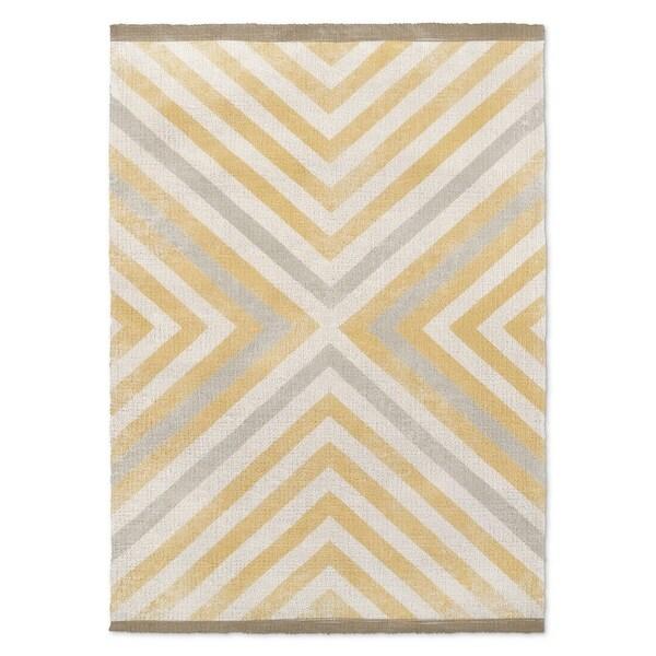Kavka Designs Hedgehog Rug Pattern Brown/ Beige/ Grey/ White Accent Rug (2' X 3') - 2' x 3'