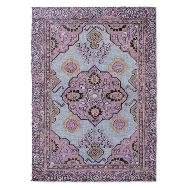 Kavka Designs Giraudel Purple/ Blue Accent Rug (2' X 3') - 2' x 3'