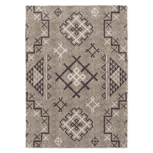 Kavka Designs Aztec Beige/ Purple Accent Rug (2' X 3') - 2' x 3'