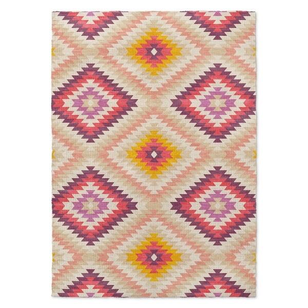 Kavka Designs Dakha Beige Beige/ Pink/ Ivory/ Purple Accent Rug (2' X 3') - 2' x 3'