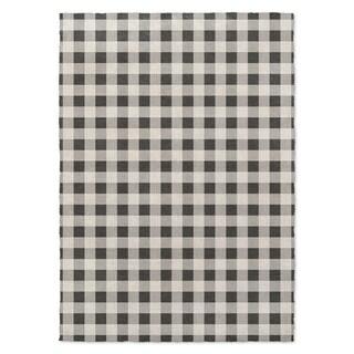 Kavka Designs Bw Gingham Black/ Grey/ Ivory Accent Rug (2' X 3') - 2' x 3'