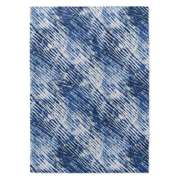 Kavka Designs Shibori Shower Blue Accent Rug (2' X 3') - 2' x 3'