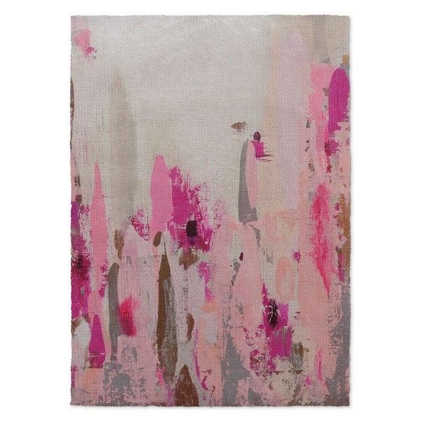 Kavka Designs Cinderella'S Slipper Pink/ Purple/ Grey/ Brown Accent Rug (2' X 3') - 2' x 3'