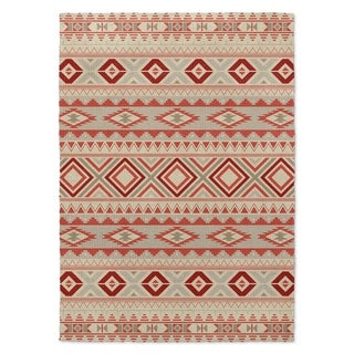 Kavka Designs navajo red/ tan/ ivory 2'X3' accent rug - 2' x 3'