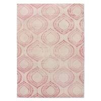 Kavka Designs Pink Boho Pink Accent Rug (2' X 3') - 2' x 3'