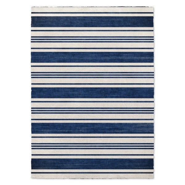 Kavka Designs Orleans Blue/ White Accent Rug (2' X 3') - 2' x 3'