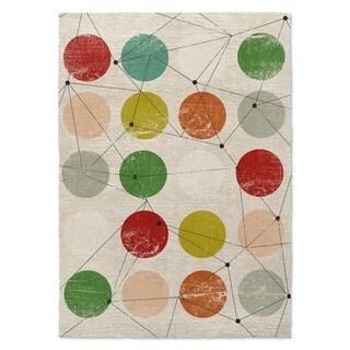 Kavka Designs Nova Red/ Green/ Orange/ Blue/ Brown Accent Rug - 2' x 3'