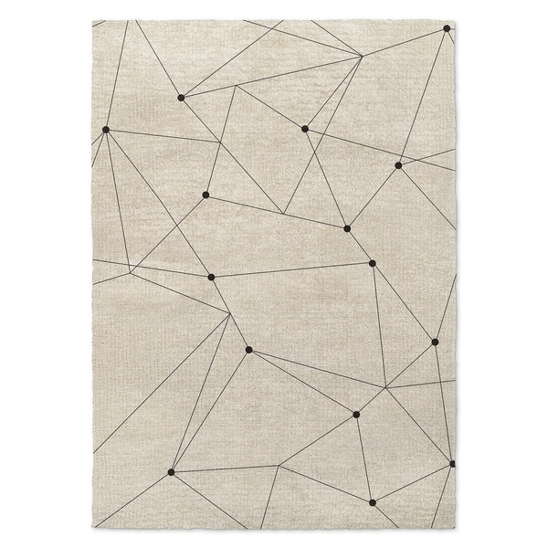 Kavka Designs Orion Black/ Ivory Accent Rug (2' X 3') - 2' x 3'
