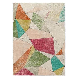 Kavka Designs Galactica Red/ Green/ Orange/ Blue Accent Rug (2' X 3') - 2' x 3'