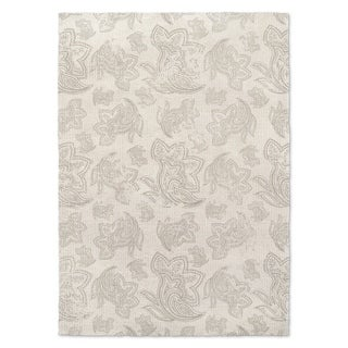 Kavka Designs Paisley Gray Distressed Grey/ Ivory Accent Rug (2' X 3') - 2' x 3'