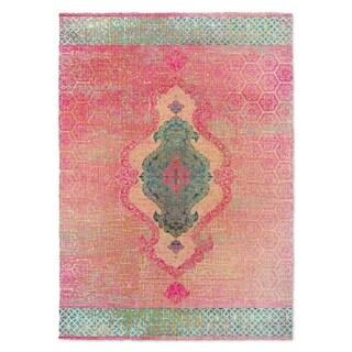 Kavka Designs Isabella Pink/ Blue/ Blush Accent Rug (2' X 3') - 2' x 3'