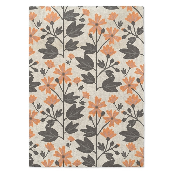 Kavka Designs Bunny Love Deux Grey/ Blush Accent Rug (2' x 3')