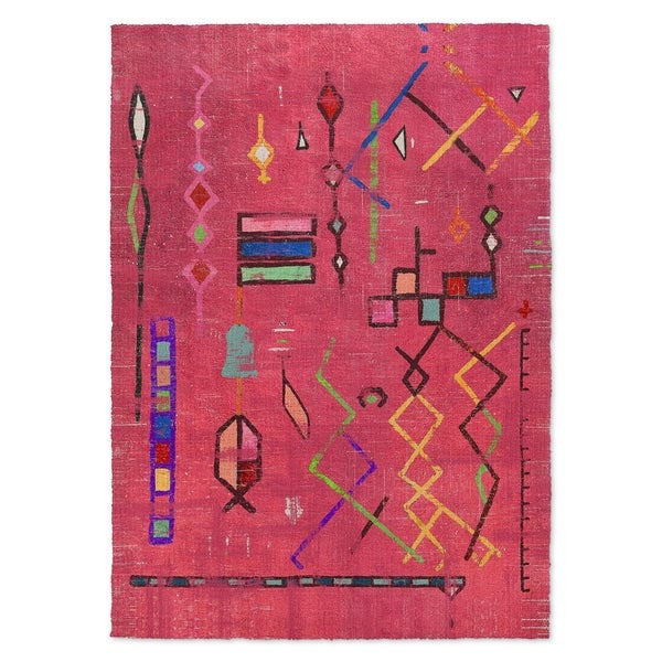 Kavka Designs Lilly In Red/ Pink/ Blue/ Green Accent Rug - 2' x 3'